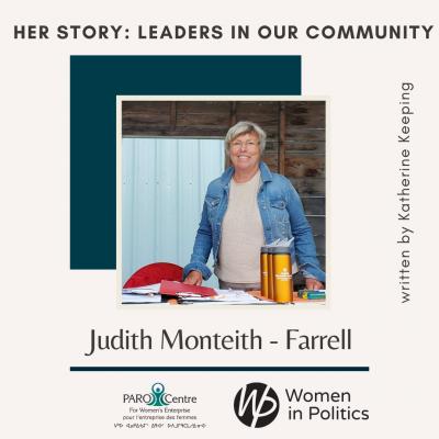 Women In Politics Leader – Judith Monteith-Farrell